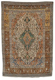 Mohtasham Kashan Rug, Persia, ca. 1875; 6 ft. 8 in. x 4 ft. 8 in.
