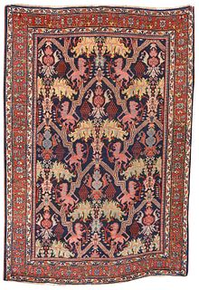 Bidjar Lion Rug, Persia, last quarter 19th century; 6 ft. 5 in. x 4 ft. 4 in.
