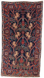 Bidjar Lion Rug, Persia, last quarter 19th century; 7 ft. x 4 ft. 6 in.
