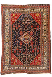 Fine and Rare Kashguli Rug, Persia, ca.1875; 5 ft. 8 in. x 4 ft.