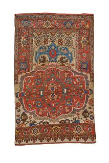 Bidjar Wagerieh, Persia, mid 19th century; 6 ft. 9 in. x 4 ft. 1 in.