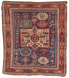 Rare Kazak Rug, Caucasus, first half 19th century; 7 ft. 8 in. x 6 ft. 5 in.