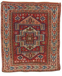 Bergamo Rug, Turkey, ca. 1875; 6 ft. 7 in. x 5 ft. 9 in.