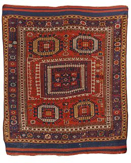 Bergamo Rug, Turkey, ca. 1875; 6 ft. 9 in. x 5 ft. 9 in.