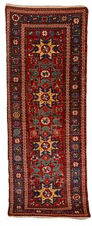 Lesghi Runner, Caucasus, last quarter 19th century; 9 ft. 5 in. x 3 ft. 5 in.