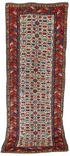 South Caucasian Runner, first half 19th century; 10 ft. 2 in. x 3 ft. 10 in.