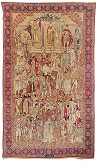 Fine Kirman Famous Leaders of the World Rug, Persia, last quarter 19th century; 8 ft. 3 in. x 5 ft. 1 in.