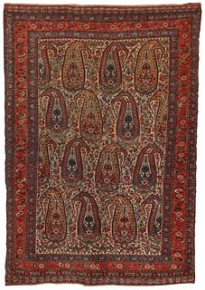 Qashgai Rug, Persia, last quarter 19th century; 5 ft. 10 in. x 4 ft.
