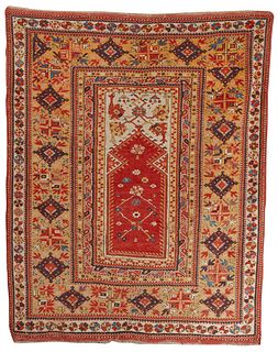 Melas Prayer Rug, Turkey, ca. 1875; 5 ft. 3 in. x 4 ft. 1 in.
