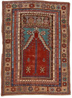 Mudjar Prayer Rug, Turkey, mid 19th century; 5 ft. x 3 ft. 9 in.