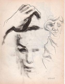 Portraits, Ink, John Ulbricht, 1940's