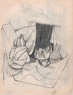 Still Life, Graphite, John Ulbricht, 1940's