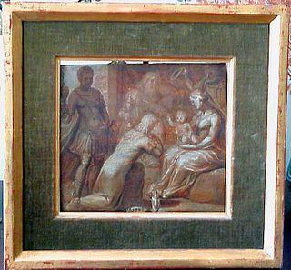 Domenico Ghirlandaio, Oil on Board Sepia