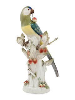 A Meissen Porcelain Model of a Parrot