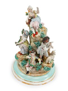 A Continental Porcelain Figural Group