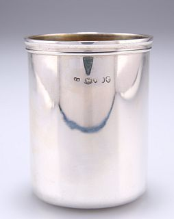 A VICTORIAN SILVER BEAKER, probably by Thomas Diller, marks