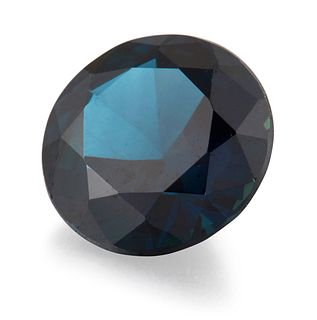 A LOOSE ROUND-CUT SAPPHIRE, estimated weight 1.06ct approxi