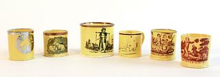6 English Canary Yellow Children's Cups