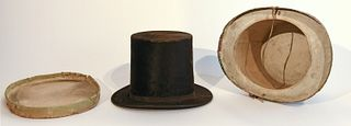 Early Top Hat with Original Wallpaper Box