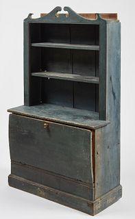 Child's Cupboard in Original Blue Paint