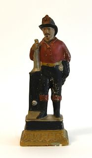 19th Century Chalkware Fireman