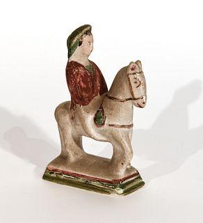 Chalkware Horse and Rider