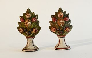 Pair of Miniature Chalkware Garnitures