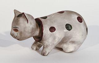 Chalkware Cat Nodder