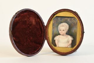 Fine Early Miniature Portrait of a Baby