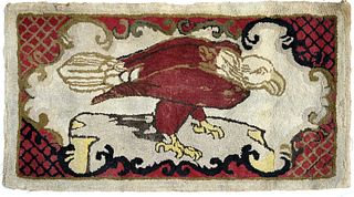Hooked Rug with Eagle