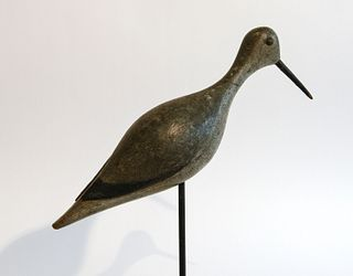 Shorebird Decoy with Carved Tail