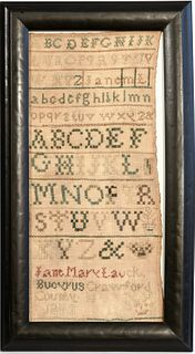 Needlework Sampler - Crawford County Ohio