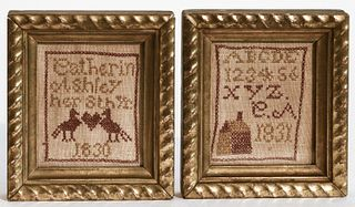 Two Miniature Samplers 1830 & 1831