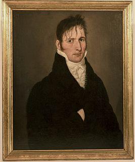Early Folk Art Portrait of a Gentleman