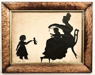 Large Silhouette - Mother and two Children