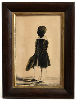 Silhouette of a Boy with Hat