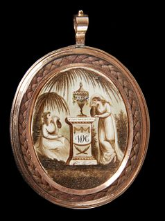 Fine 2 Sided Mourning Pendant