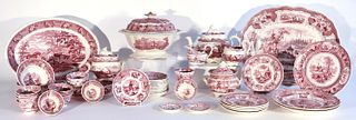 Lot of 51 Staffordshire Red Seasons & Palestine