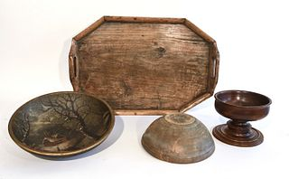 Interesting Woodenware Lot