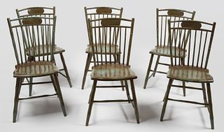 Set of 6 Period Windsor Side Chairs