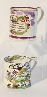 Two Larger Soft Paste Mugs