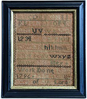 Needlework Sampler 1796