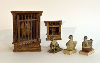 Five Antique Squeak Toys
