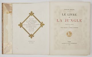 Rare Book - Rudyard KIPLING Le Livre de La Jungle