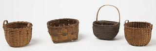 Good Lot of 4 Miniature Baskets