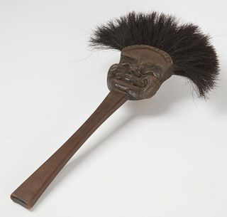 Carved Wooden Hearth Brush