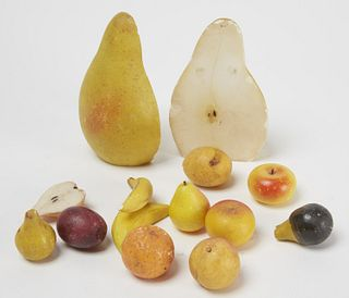 Lot of Alabaster Fruit