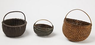 Three Good Early New England Baskets