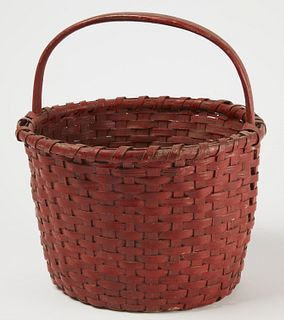 New England Split Basket in Red Paint