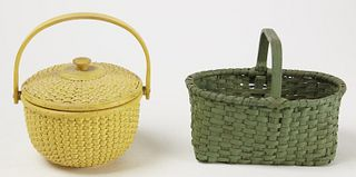 Two Painted Baskets